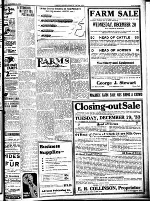 Kossuth County Advance from Algona, Iowa on December 14, 1933 · Page 11