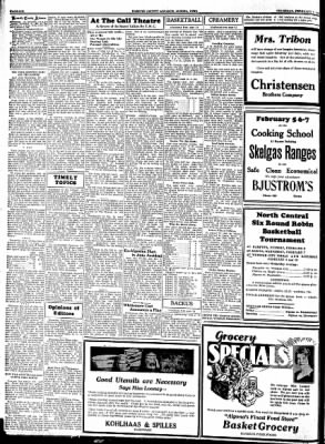 Kossuth County Advance from Algona, Iowa on February 1, 1934 · Page 6