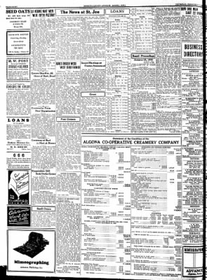 Kossuth County Advance from Algona, Iowa on February 1, 1934 · Page 8