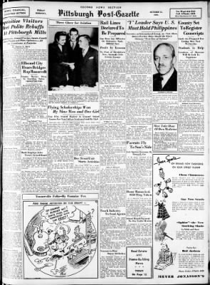 Pittsburgh Post-Gazette from Pittsburgh, Pennsylvania on October 11, 1940 · Page 17