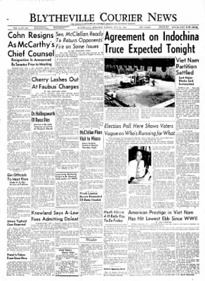 The Courier News from Blytheville, Arkansas on July 20, 1954 · Page 1