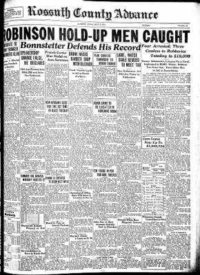 Kossuth County Advance from Algona, Iowa on May 3, 1934 · Page 1