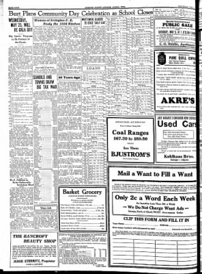 Kossuth County Advance from Algona, Iowa on May 3, 1934 · Page 12