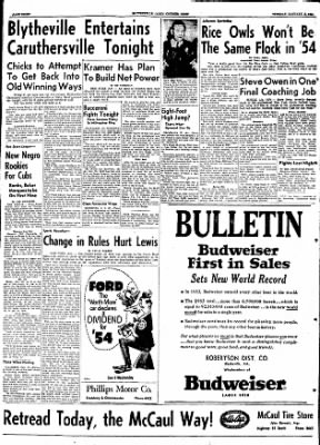 The Courier News from Blytheville, Arkansas on January 5, 1954 · Page 8