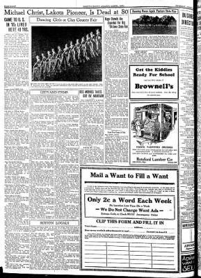 Kossuth County Advance from Algona, Iowa on August 23, 1934 · Page 8