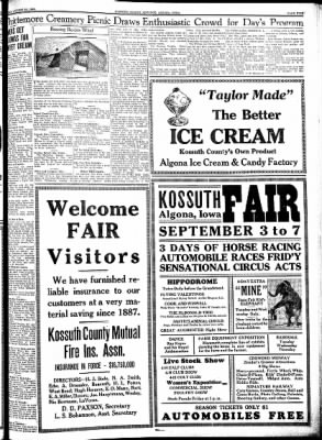 Kossuth County Advance from Algona, Iowa on August 30, 1934 · Page 13
