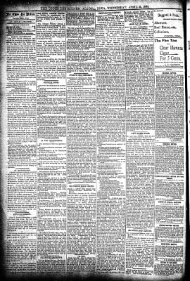 The Algona Upper Des Moines from Algona, Iowa on April 29, 1896 · Page 4