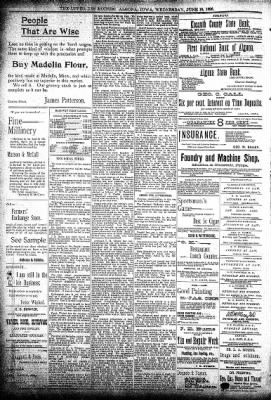 The Algona Upper Des Moines from Algona, Iowa on June 10, 1896 · Page 9