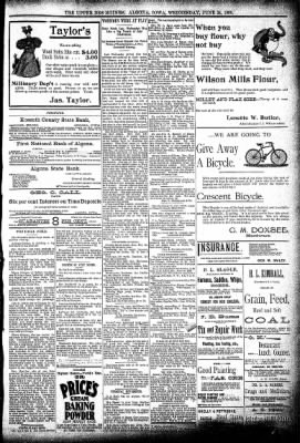 The Algona Upper Des Moines from Algona, Iowa on June 24, 1896 · Page 5