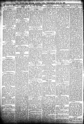The Algona Upper Des Moines from Algona, Iowa on July 22, 1896 · Page 2