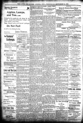 The Algona Upper Des Moines from Algona, Iowa on September 16, 1896 · Page 8