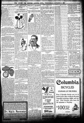 The Algona Upper Des Moines from Algona, Iowa on October 7, 1896 · Page 9