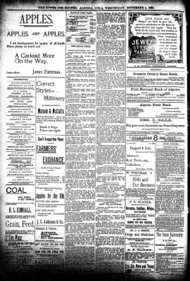The Algona Upper Des Moines from Algona, Iowa on November 4, 1896 · Page 8