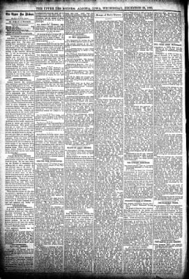 The Algona Upper Des Moines from Algona, Iowa on December 23, 1896 · Page 4