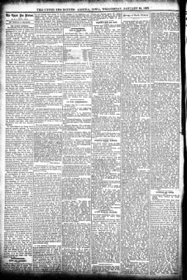 The Algona Upper Des Moines from Algona, Iowa on January 20, 1897 · Page 4