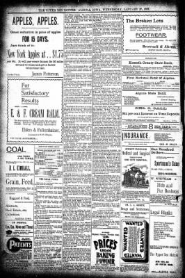 The Algona Upper Des Moines from Algona, Iowa on January 27, 1897 · Page 8