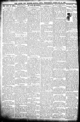 The Algona Upper Des Moines from Algona, Iowa on February 10, 1897 · Page 2