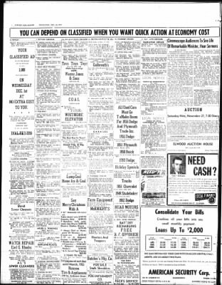 The Call Leader From Elwood Indiana On November 24 1954 Page 8