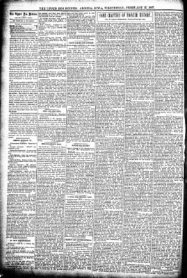 The Algona Upper Des Moines from Algona, Iowa on February 17, 1897 · Page 4