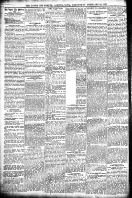 The Algona Upper Des Moines from Algona, Iowa on February 24, 1897 · Page 4
