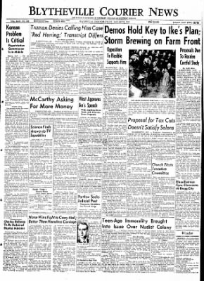 The Courier News from Blytheville, Arkansas on January 8, 1954 · Page 1