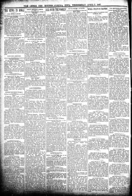 The Algona Upper Des Moines from Algona, Iowa on April 7, 1897 · Page 2