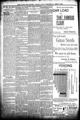The Algona Upper Des Moines from Algona, Iowa on April 7, 1897 · Page 4