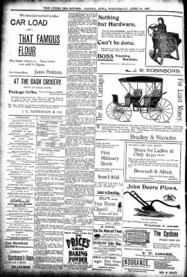 The Algona Upper Des Moines from Algona, Iowa on April 21, 1897 · Page 8