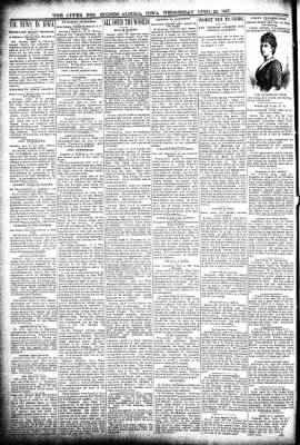 The Algona Upper Des Moines from Algona, Iowa on April 28, 1897 · Page 2