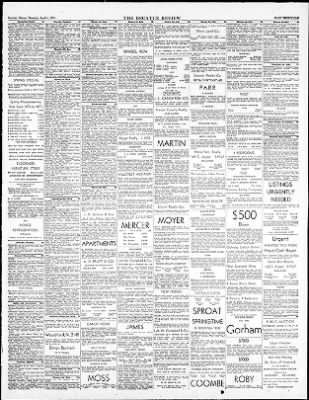 The Decatur Daily Review From Decatur Illinois On April 5 1951