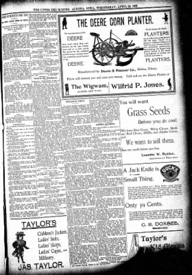 The Algona Upper Des Moines from Algona, Iowa on April 28, 1897 · Page 5