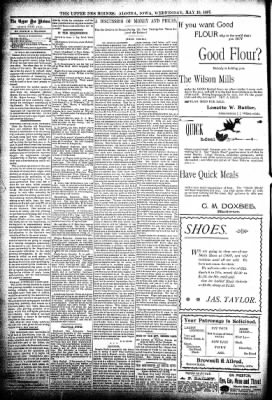 The Algona Upper Des Moines from Algona, Iowa on May 19, 1897 · Page 4