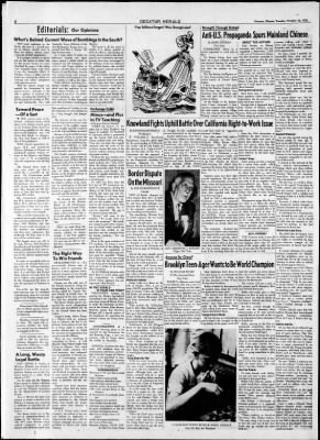 Herald and Review from Decatur, Illinois on October 14, 1958 · Page 6
