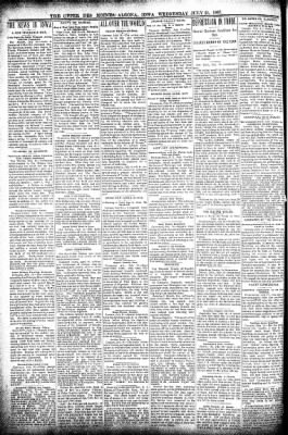 The Algona Upper Des Moines from Algona, Iowa on July 21, 1897 · Page 2