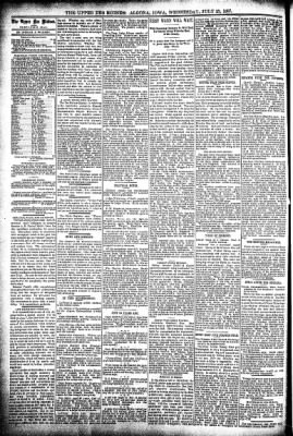 The Algona Upper Des Moines from Algona, Iowa on July 21, 1897 · Page 4
