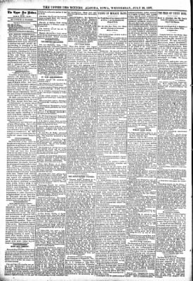 The Algona Upper Des Moines from Algona, Iowa on July 28, 1897 · Page 4