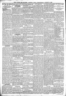 The Algona Upper Des Moines from Algona, Iowa on August 4, 1897 · Page 4