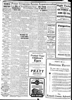 Kossuth County Advance from Algona, Iowa on October 12, 1937 · Page 2