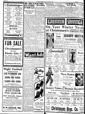 Kossuth County Advance from Algona, Iowa on October 26, 1937 · Page 4