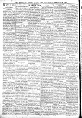 The Algona Upper Des Moines from Algona, Iowa on September 29, 1897 · Page 2