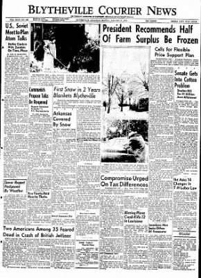 The Courier News from Blytheville, Arkansas on January 11, 1954 · Page 1