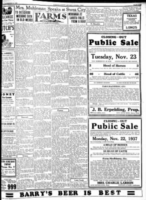 Kossuth County Advance from Algona, Iowa on November 16, 1937 · Page 9