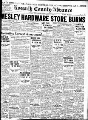 Kossuth County Advance from Algona, Iowa on December 7, 1937 · Page 1