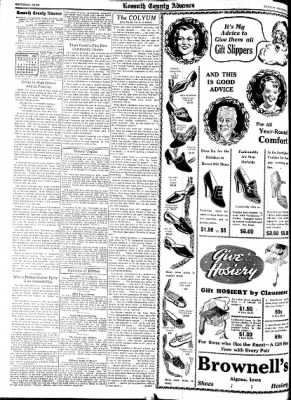 Kossuth County Advance from Algona, Iowa on December 7, 1937 · Page 6