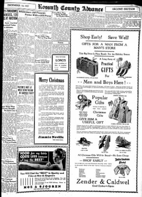 Kossuth County Advance from Algona, Iowa on December 14, 1937 · Page 11