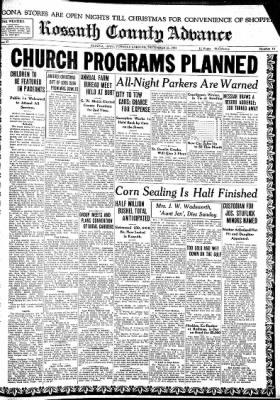 Kossuth County Advance from Algona, Iowa on December 21, 1937 · Page 1
