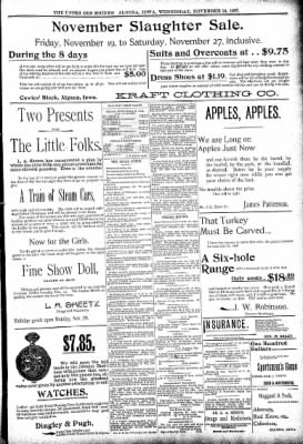 The Algona Upper Des Moines from Algona, Iowa on November 24, 1897 · Page 5