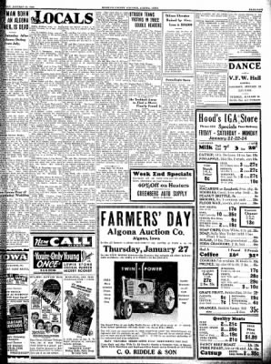 Kossuth County Advance from Algona, Iowa on January 20, 1938 · Page 5