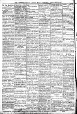 The Algona Upper Des Moines from Algona, Iowa on December 29, 1897 · Page 6