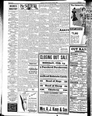 Kossuth County Advance from Algona, Iowa on February 10, 1938 · Page 8